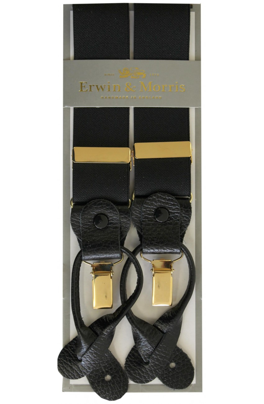 92872651a Erwin   Morris Made In UK Black 2 in 1 Luxury 35mm Guilt Clip Or ...